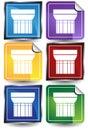 3D Sticker Set - column Royalty Free Stock Photo