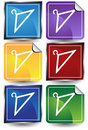 3D Sticker Set - Hangers Royalty Free Stock Photo