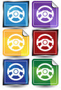 3D Sticker Set - Steering Wheel Royalty Free Stock Photo