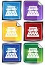 3D Sticker Set - Typewriter Royalty Free Stock Photo