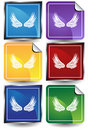 3D Sticker Set - wings Stock Photos