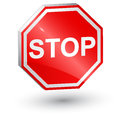 3d, stop sign Royalty Free Stock Photos