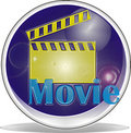 3d symbol movie Stock Photography