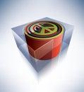 3D symbol: Peace symbol Stock Images