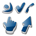 3d symbols human checkmark phone cursor Royalty Free Stock Photos