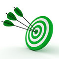 3d target and arrows - isolated on white Royalty Free Stock Photography