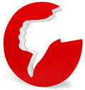 3d thumb down red icon Royalty Free Stock Photo