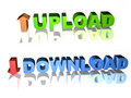 3d upload and download icon Royalty Free Stock Images