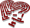 3d vector brocken labyrinth heart type Royalty Free Stock Photos