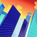 3D Vector City Stock Photo