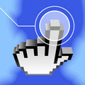 3d vector hand cursor Royalty Free Stock Images