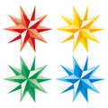 3d vector shining star Royalty Free Stock Photos
