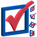3D Voting Checkmarks Stock Image