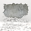 3d wall destruction Stock Images