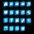 3D web icons Stock Image