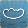 3d white cloud Royalty Free Stock Photography