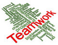 3d Wordcloud of teamwork Stock Photos