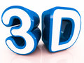 3d words in blue Royalty Free Stock Photos