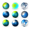 3d world globe art Royalty Free Stock Photography