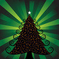 3D Xmas Tree with Lights Stock Photography