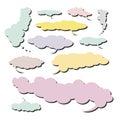 4朵云彩收集可笑的集 库存图片