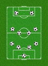 4-4-2 Soccer Formation Stock Photography