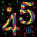 4 5 funky number series Στοκ Εικόνα