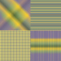 4 Colored sets of patterns Royalty Free Stock Photo
