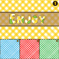 4 Colour Pic Nic Pattern Texture. Royalty Free Stock Photo