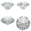 4 Diamonds Set On White Backgr...