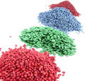 4 knots of colored seeds Stock Images