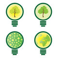 4 Light Bulb - environmental illustration  Royalty Free Stock Photos