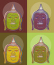 4 pop art buddha Stock Images