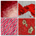 4 Red abstract composition Stock Images