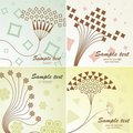 4 Retro floral background Stock Photo