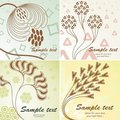 4 Retro floral background Royalty Free Stock Photos