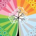 4 retro sezon pop tree Obraz Stock