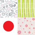 4 seamless patterns Stock Photo