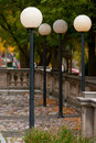 4 Street Lamps Stock Images