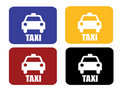 4 taxi sign Royalty Free Stock Images