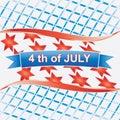 4 van juli American.vector Royalty-vrije Stock Afbeelding
