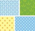 4 vector seamless geometrical textures Stock Photography