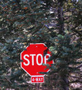 4-Way Stop Sign Royalty Free Stock Photography