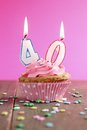 40 birthday cupcake Stock Photo