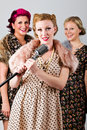 40's singing group Royalty Free Stock Images