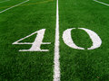 40 Yard Line (2) Royalty Free Stock Photography