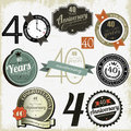 40 years Anniversary signs-designs collection Stock Photos