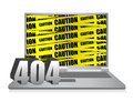 404 error laptop Stock Photos