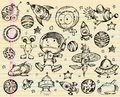 4091_SketchSpaceSet Royalty Free Stock Photos