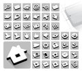 42 web icons set Royalty Free Stock Photography